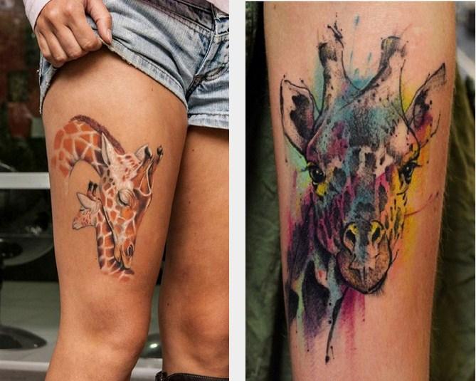 tatouage girafe