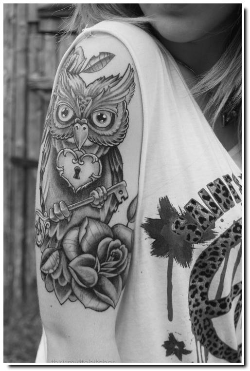 tatouage hibou