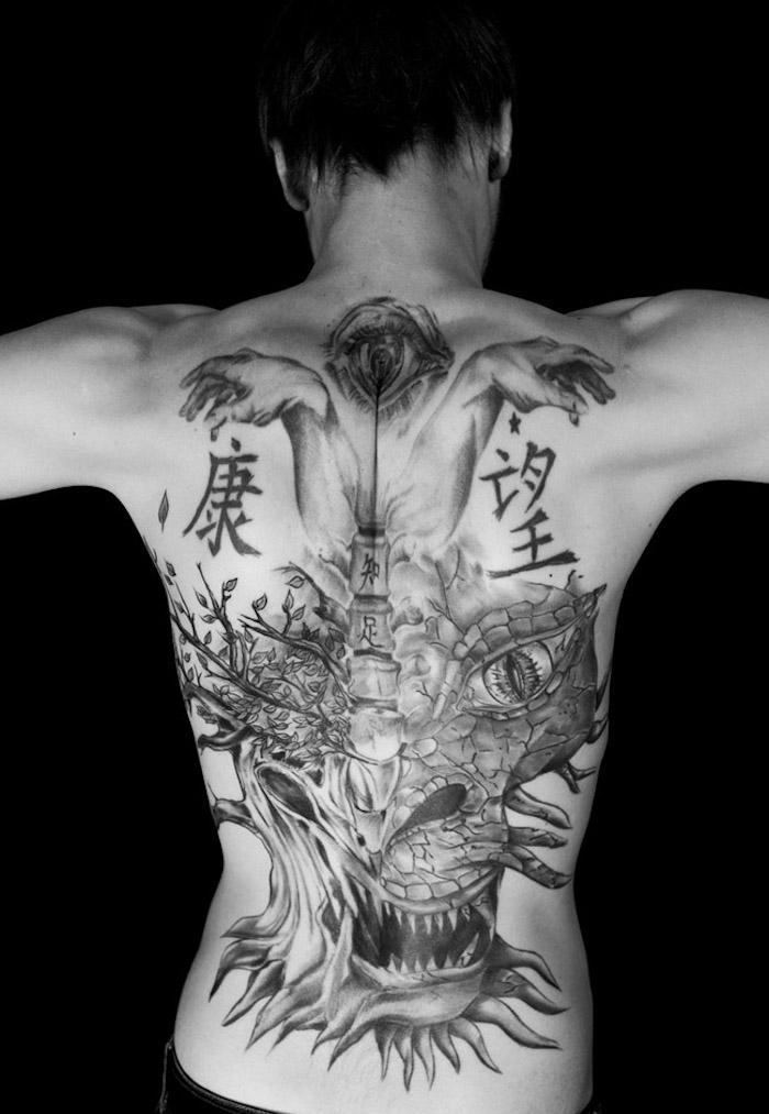 tatouage homme dos