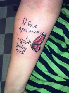 tatouage i love you mom