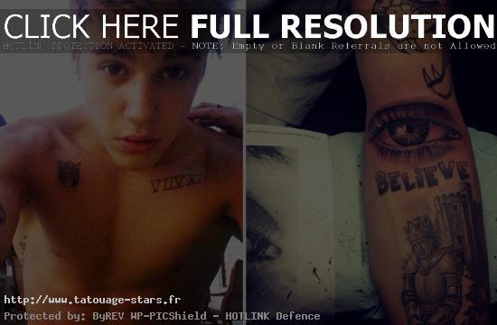 tatouage justin bieber