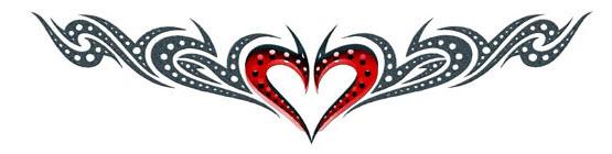 tatouage tribal amour