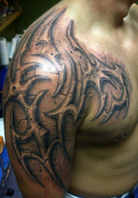 tatouage tribal en 3d