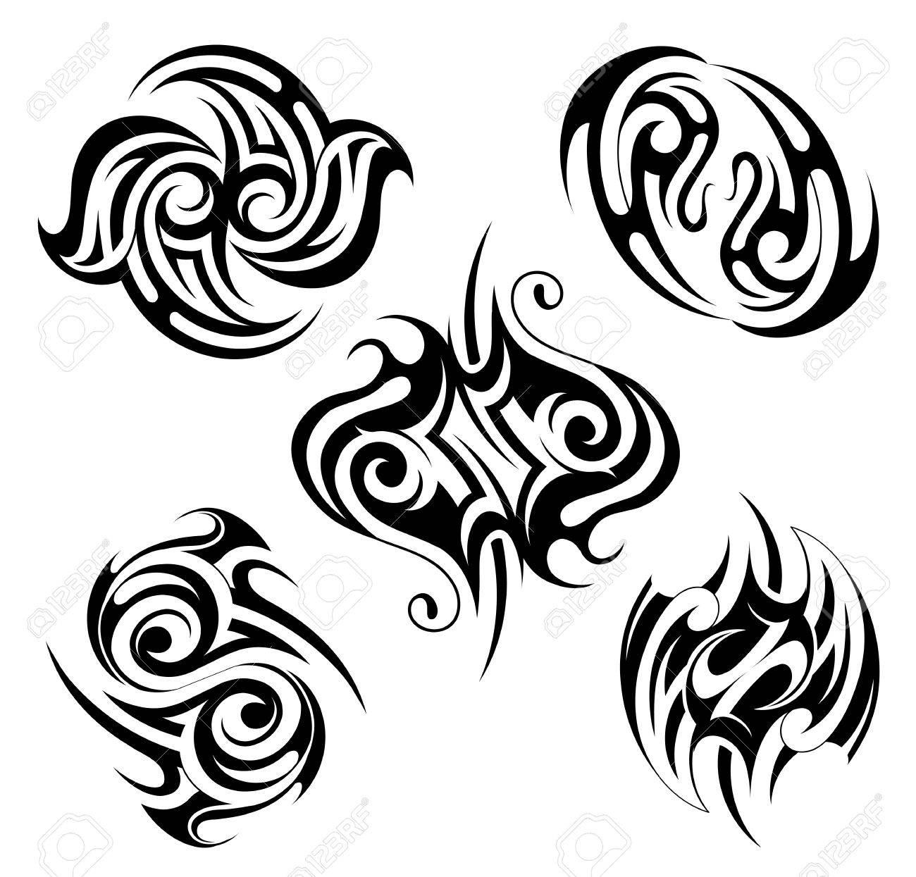 tatouage tribal gothique
