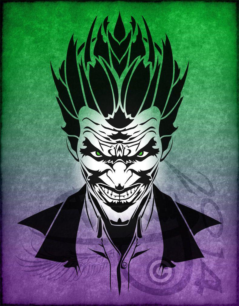tatouage tribal joker