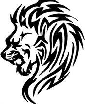 tatouage tribal lion