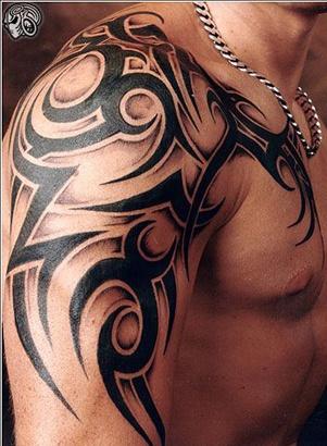 tatouage tribal ombre