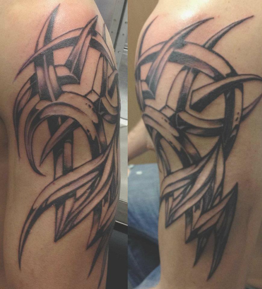 tatouage tribal relief