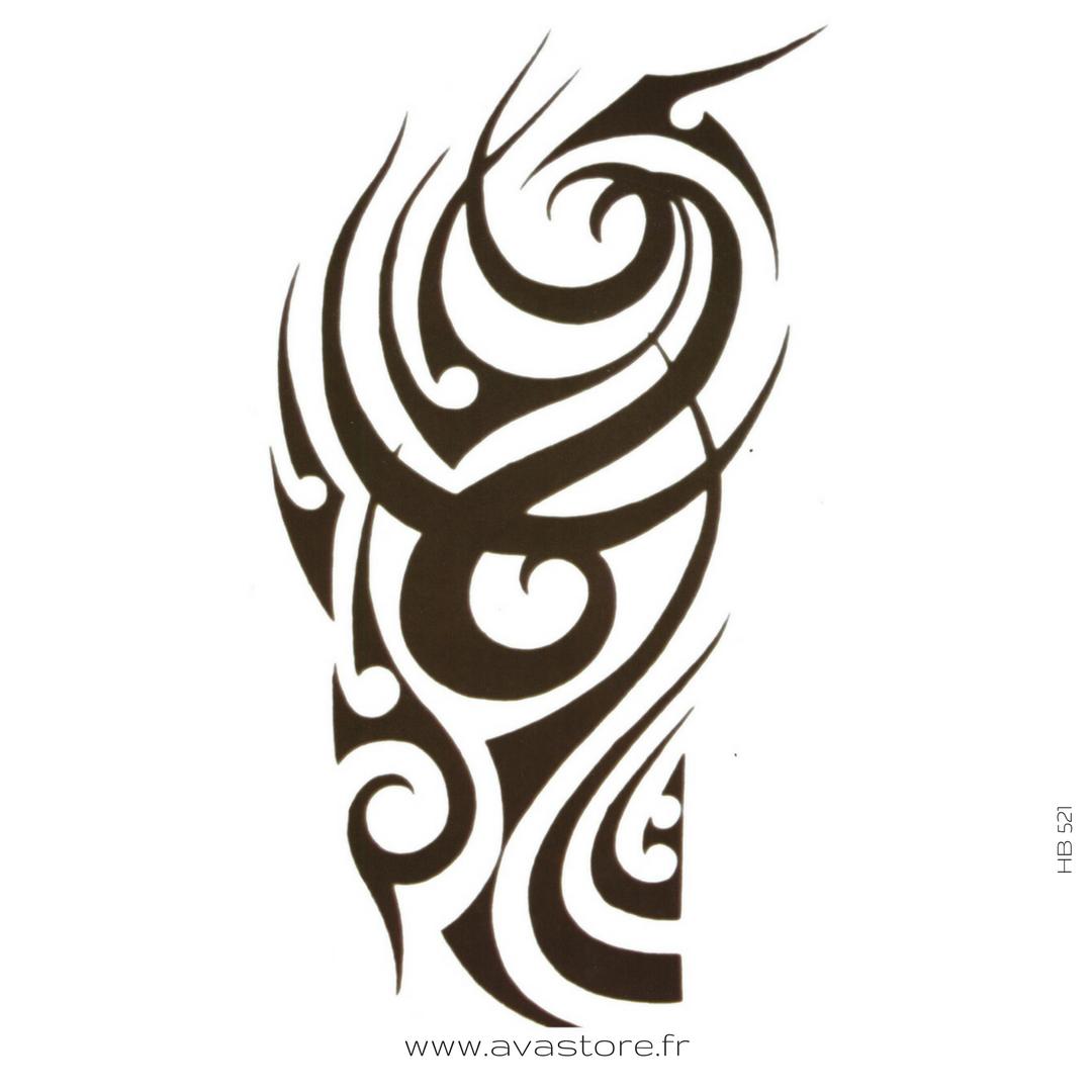 tatouage tribal temporaire
