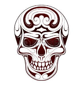 tatouage tribal tete de mort
