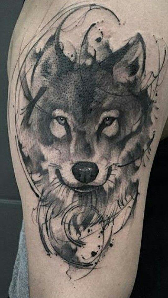 tatouage wolf